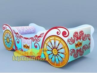 Кроватка-карета Голубая - Мебельная фабрика «Рим»