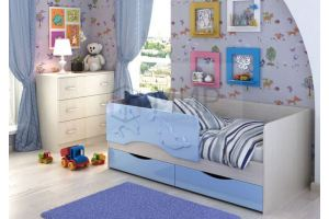 Детская кровать Дельфин лазурь - Мебельная фабрика «Мир»