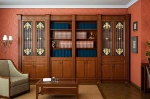 Стенка в гостиную Библиотека - Мебельная фабрика «Молчанов»