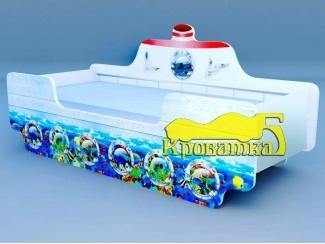 Детская кровать Кораблик Подводный мир - Мебельная фабрика «Рим»