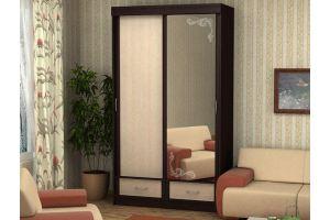 Шкаф-купе Bалерия 1,2 с зеркалом - Мебельная фабрика «Эко»