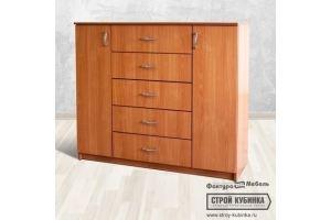 Комод 1200/5 +2дв ЛДСП - Мебельная фабрика «Фактура-Мебель»
