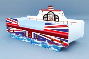 Детская кровать-кораблик Флаг - Мебельная фабрика «Рим»