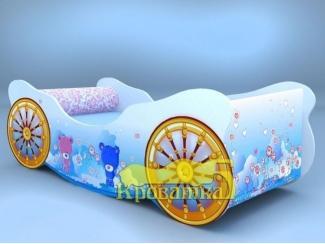 Голубая кровать Карета Мишки - Мебельная фабрика «Рим»