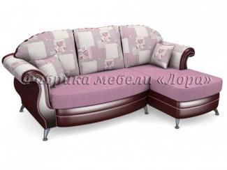 Угловой диван Восток с оттоманкой - Мебельная фабрика «Лора»