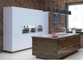 Маленькая белая кухня Нью Йорк - Мебельная фабрика «Энли»