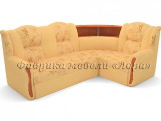 Угловой диван Надежда с круглым баром - Мебельная фабрика «Лора»
