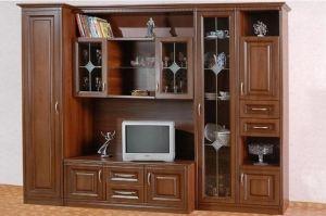 Гостиная стенка Стефания Орех - Мебельная фабрика «Кубань-мебель»