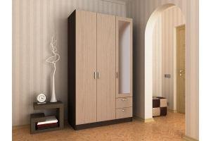 Шкаф распашной 3х створчатый с 2 ящиками №1 - Мебельная фабрика «Гермес»