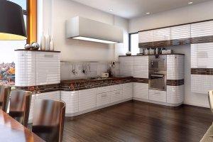 Большая кухня Linea Perfetta - Мебельная фабрика «ViVakitchen»