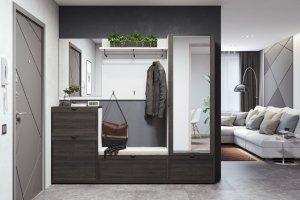 Большая прихожая с зеркалом Parma - Мебельная фабрика «Дятьково»