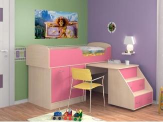 Кровать-чердак Дюймовочка-2 - Мебельная фабрика «Формула мебели»