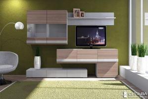 Стенка  Лофт 2 НМ 013.09 - Мебельная фабрика «Сильва»