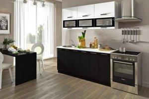 Черная прямая кухня Фиджи - Мебельная фабрика «ЛЕКО»