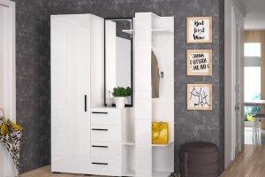 Прихожая Лайт белый глянец - Мебельная фабрика «Эстель»