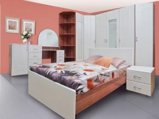 Светлый спальный гарнитур Симфония - Мебельная фабрика «Комодофф»