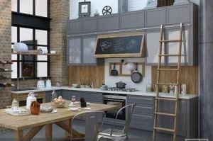 Кухня Динамика прямая - Мебельная фабрика «Анонс»
