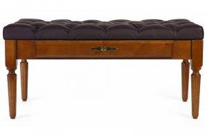 Банкетка Оливия эко-кожа коричневый/темно-коричневый - Мебельная фабрика «Мебелик»