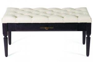 Банкетка Оливия эко-кожа молочный/венге - Мебельная фабрика «Мебелик»