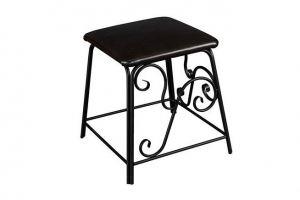 Банкетка Сартон 31 черный/экокожа коричневый - Мебельная фабрика «Мебелик»