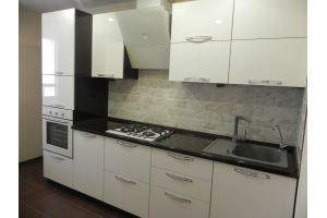 Белая прямая кухня пластик - Мебельная фабрика «C&K»