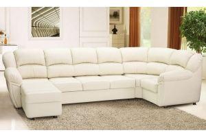 Белый П-образный диван Милана - Мебельная фабрика «ИХСАН»