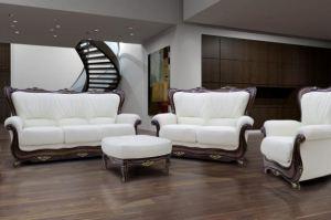 Диван  Роза  трехместный кожа - Мебельная фабрика «Флоренция»