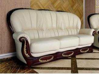Диван  Марина трехместный кожа - Мебельная фабрика «Флоренция»