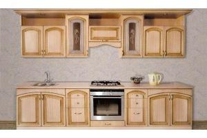 Кухня Виктория Орех L3000 - Мебельная фабрика «Кубань-Мебель»