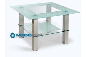 Стол журнальный  Кристалл 1 алюминий - Мебельная фабрика «Мебелик»