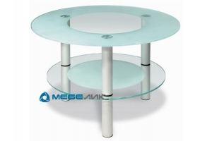 Стол журнальный Кристалл 3 алюминий - Мебельная фабрика «Мебелик»