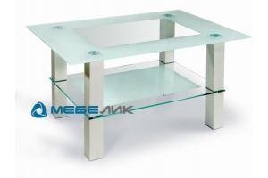 Стол журнальный Кристалл 2 алюминий - Мебельная фабрика «Мебелик»