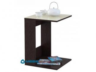 Стол журнальный BeautyStyle 3 венге/стекло бежевое - Мебельная фабрика «Мебелик»