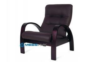 Кресло Тенария 3 эко-кожа темно-коричневый/каркас венге - Мебельная фабрика «Мебелик»