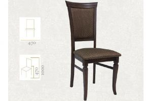 Стул Бонита орех, жаккард Ромб коричневый - Мебельная фабрика «Мебелик»