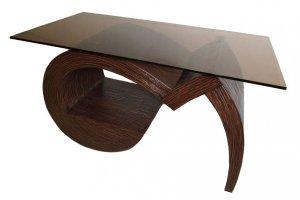 Журнальный стол Дуэт-4 с основанием из дерева - Мебельная фабрика «Випус»