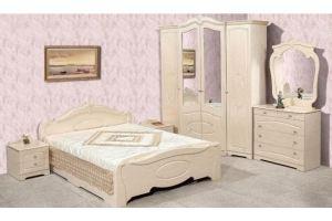 Спальня Валенсия Бежевый Глянец - Мебельная фабрика «Кубань-Мебель»