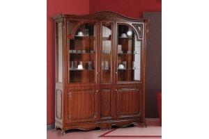 Посудный шкаф Глория Орех L1700 - Мебельная фабрика «Кубань-Мебель»
