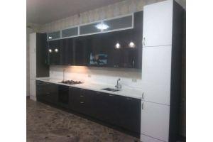 Кухонный гарнитур пластик Arpa+алюминевые рамки, цена за метр погонный - Мебельная фабрика «Мебель Миру»