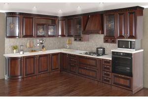 Кухня Деметра радиусная угловая Орех - Мебельная фабрика «Кубань-Мебель»
