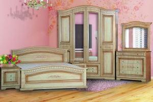 Модульная Спальня Венера 4-дверная Крем - Мебельная фабрика «Кубань-Мебель»