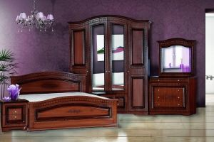 Модульная Спальня Венера 4-дверная Орех - Мебельная фабрика «Кубань-Мебель»