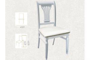 Стул Арида белый/патина, жаккард Баскет 3 - Мебельная фабрика «Мебелик»