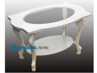 Стол журнальный Берже 1С белый ясень - Мебельная фабрика «Мебелик»
