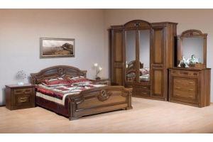 Спальный гарнитур Клеопатра 4х дв Орех - Мебельная фабрика «Кубань-Мебель»