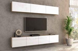 Гостиная Лия 3 дуб сонома/белый глянец - Мебельная фабрика «CASE»