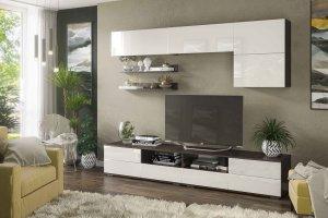 Гостиная Тренто венге/белый глянец - Мебельная фабрика «CASE»