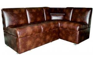 Коричневый диван на кухню 174 - Мебельная фабрика «Мега-Проект»