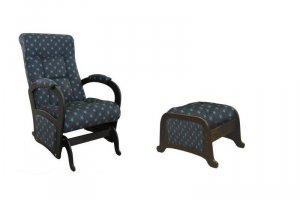 Кресло-маятник с пуфом-маятник Гольф  глайдер - Мебельная фабрика «Квинта»