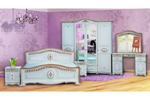 Модульная Спальня Азалия Белая Матовая 1600х2000 - Мебельная фабрика «Кубань-Мебель»